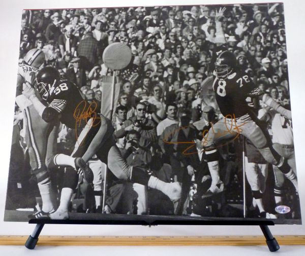 LC Greenwood & Dwight White, Pittsburgh Steelers signed 16x20 photo