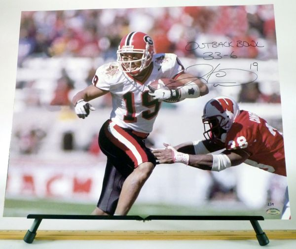 Hines Ward, Univ. of Georgia signed 16x20 photo - OUTBACK BOWL