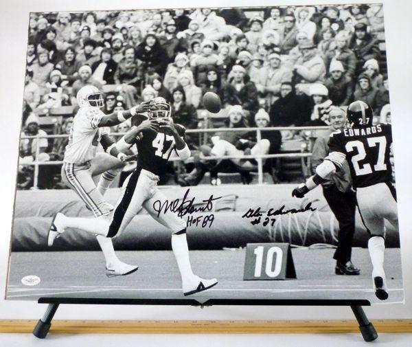 Mel Blount & Glen Edwards, Pittsburgh Steelers signed 16x20 photo
