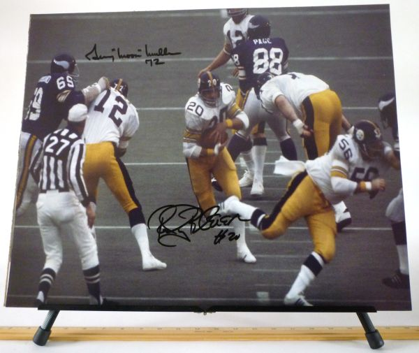 "Gerry ""Moon"" Mullins & Rocky Bleier, Pittsburgh Steelers signed 16x20 photo"