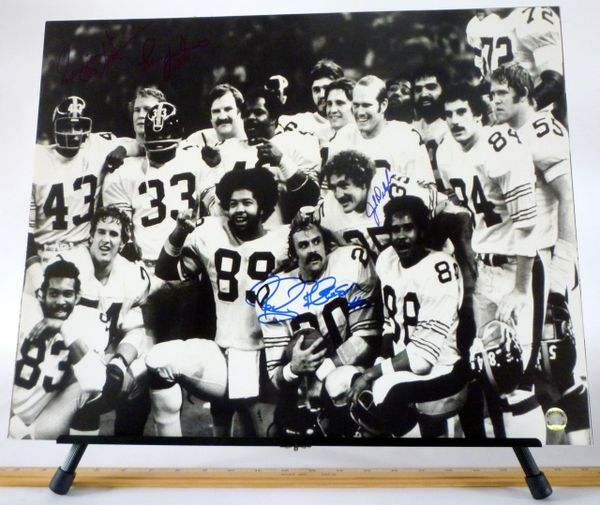 Rocky Bleier & Jack Deloplaine, Pittsburgh Steelers signed 16x20 photo