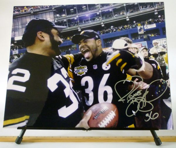 Jerome Bettis, Pittsburgh Steelers signed 16x20 photo