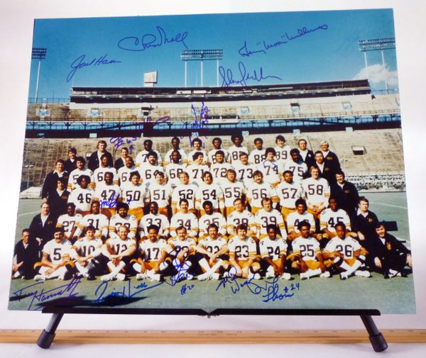 Super Bowl lX team, Pittsburgh Steelers signed 16x20 photo