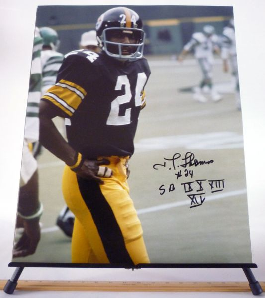 JT Thomas, Pittsburgh Steelers signed 16x20 photo