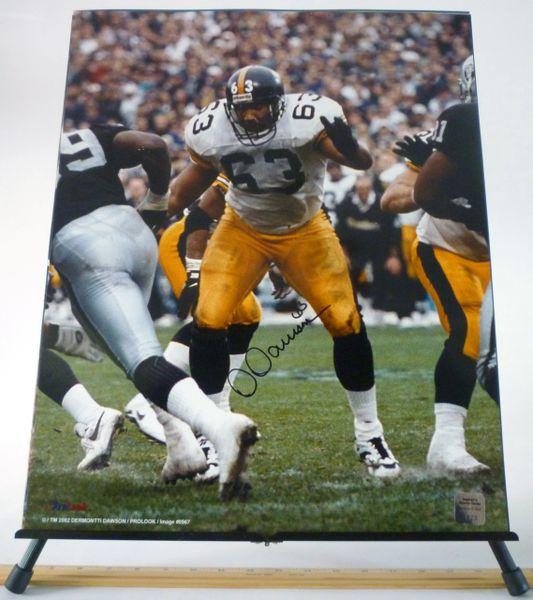 Dermonti Dawson, Pittsburgh Steelers signed 16x20 photo