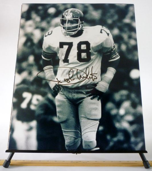 Dwight White, Pittsburgh Steelers signed 16x20 photo