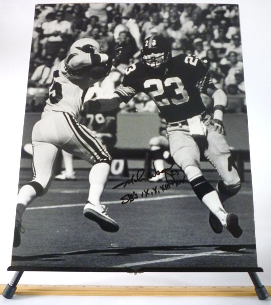 Mike Wagner, Pittsburgh Steelers signed 16x20 photo