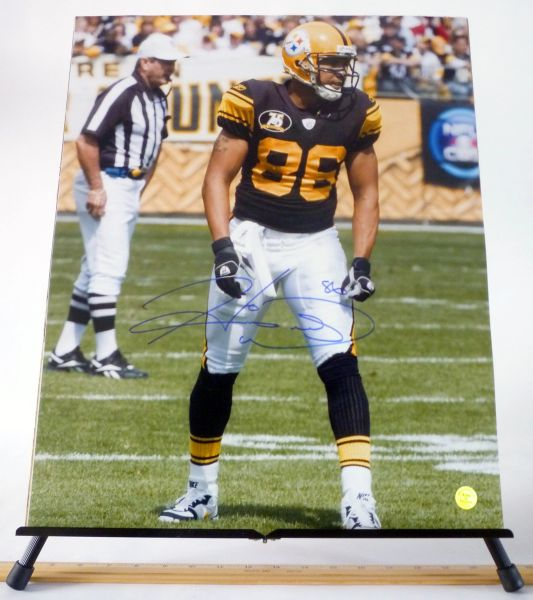 Hines Ward, Pittsburgh Steelers signed 16x20 photo