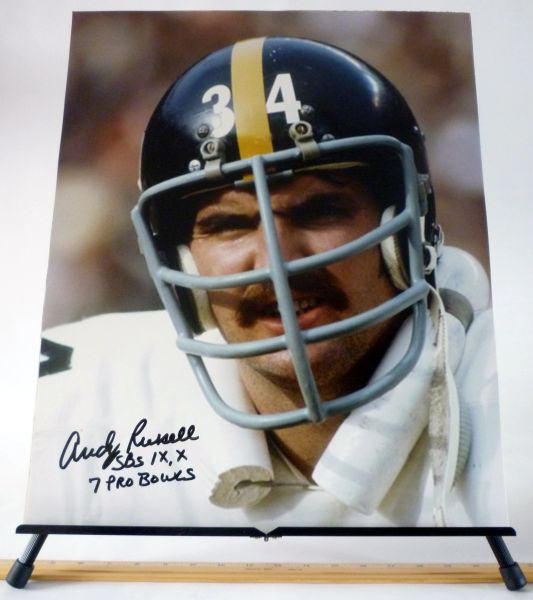Andy Russell, Pittsburgh Steelers signed 16x20 photo