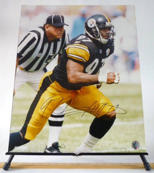 Kendrell Bell, Pittsburgh Steelers signed 16x20 photo