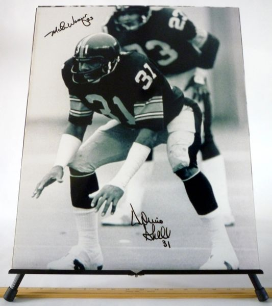 Mike Wagner & Donnie Shell, Pittsburgh Steelers signed 16x20 photo