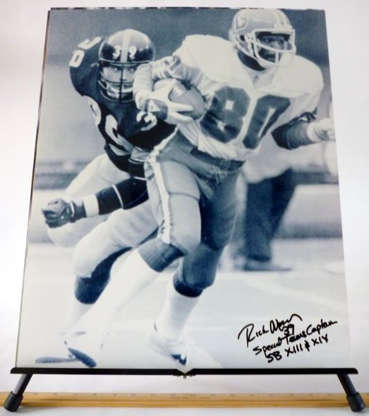 Rick Moser, Pittsburgh Steelers signed 16x20 photo