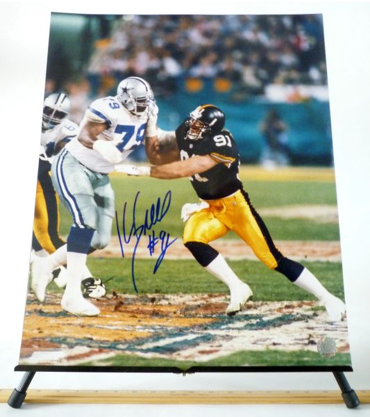 Kevin Greene, Pittsburgh Steelers signed 16x20 photo
