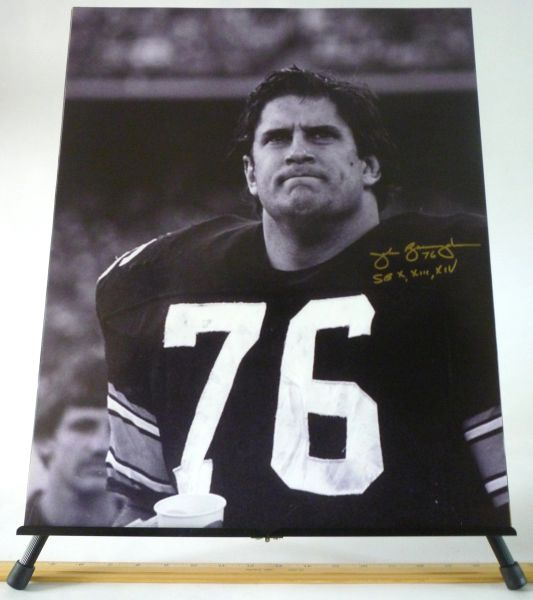 John Banaszak, Pittsburgh Steelers signed 16x20 photo