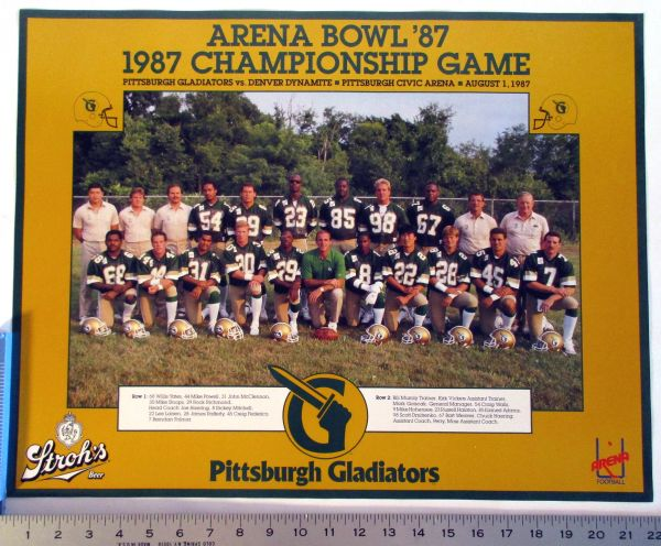 1987 Pittsburgh Gladiators - Arena Football - team poster
