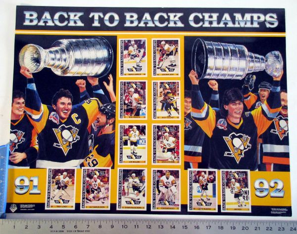 1991-92 Pittsburgh Penguins Stanley Cup Champs poster