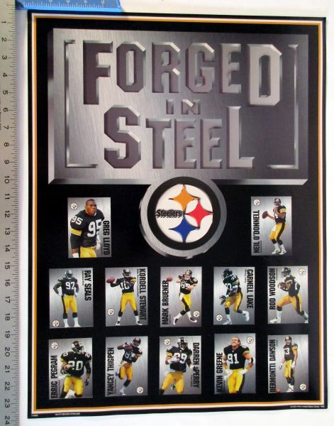 Forged in Steel - Pittsburgh Steelers 1990's poster