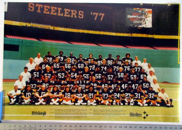 1977 Pittsburgh Steelers team (mounted) poster