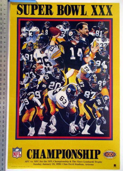 Pittsburgh Steelers Super Bowl 30 poster