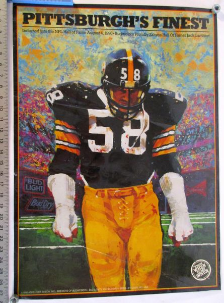 Jack Lambert - Pittsburgh Steelers poster
