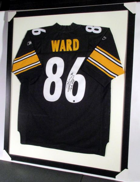 detailed pictures 45875 19c7e Hines Ward - Pittsburgh Steelers, signed framed jersey