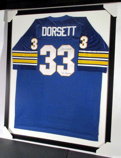 Tony Dorsett - Pitt Panthers, signed framed jersey