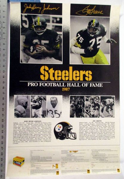 Joe Greene - John Henry Johnson 1987 HOF commemorative poster