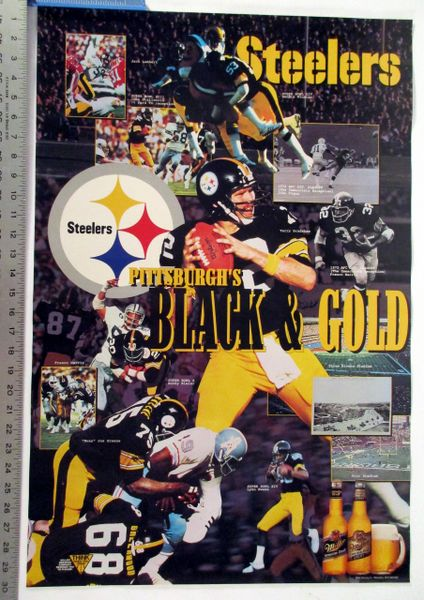 Pittsburgh Steelers - Black & Gold poster
