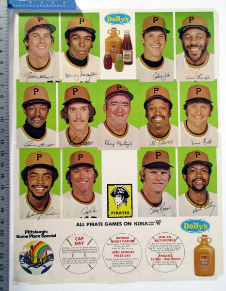 1975 Pittsburgh Pirates - Daily's Fruit Juice poster