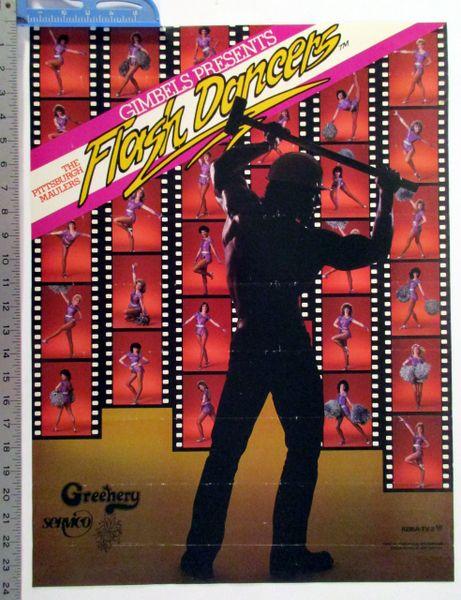 "1984 Pittsburgh Maulers Cheerleaders ""Flash Dancers"" poster"