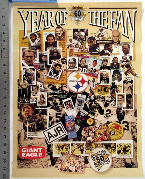 Pittsburgh Steelers 60th Anniversary poster