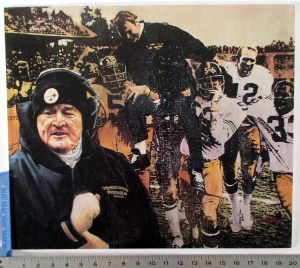 1972 AFC Playoff photo poster - Chuck Noll - Pittsburgh Steelers