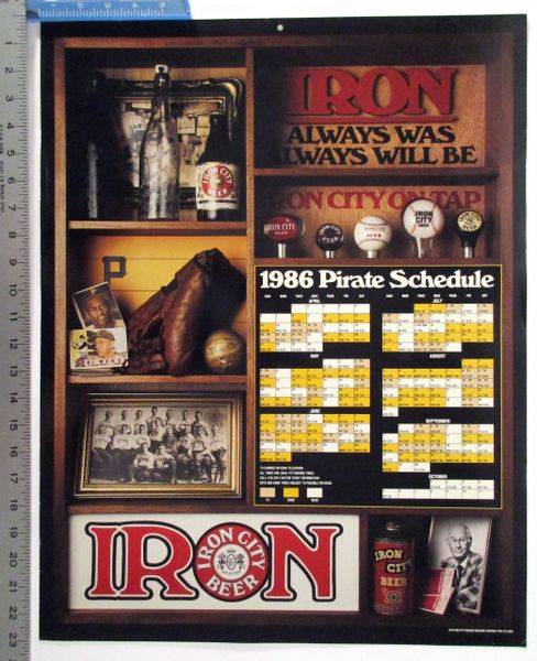 1986 Pittsburgh Pirates schedule - Iron City Beer poster