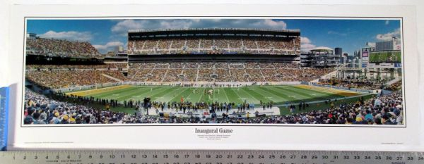 "Heinz Field - Pittsburgh, PA Steelers panoramic photo 39"" poster"