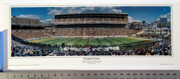 "Heinz Field - Pittsburgh, PA Steelers panoramice photo 27"" poster"