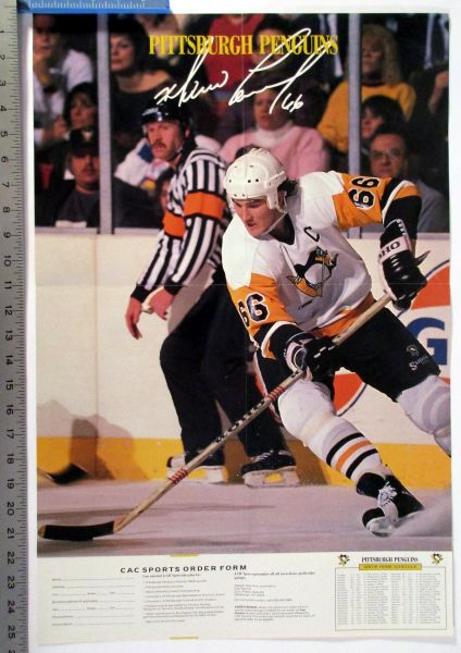 1990-91 Mario Lemieux - Pittsburgh Penguins poster