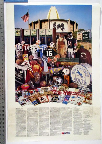 (2) Pro Football Hall of Fame posters