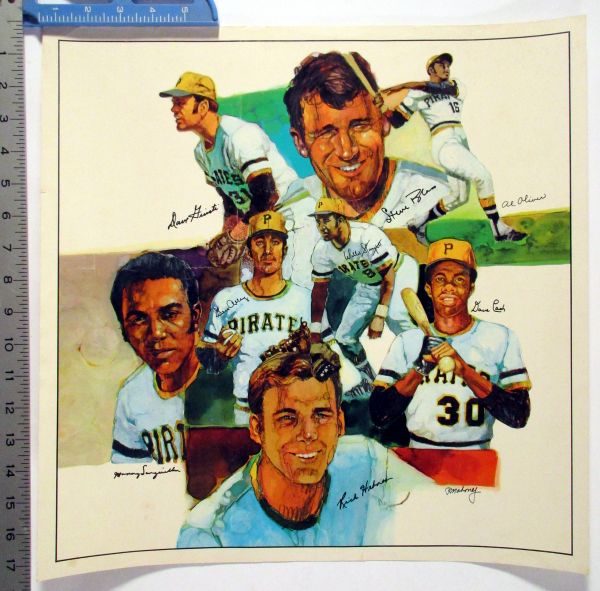 1970's Pittsburgh Pirates collage poster