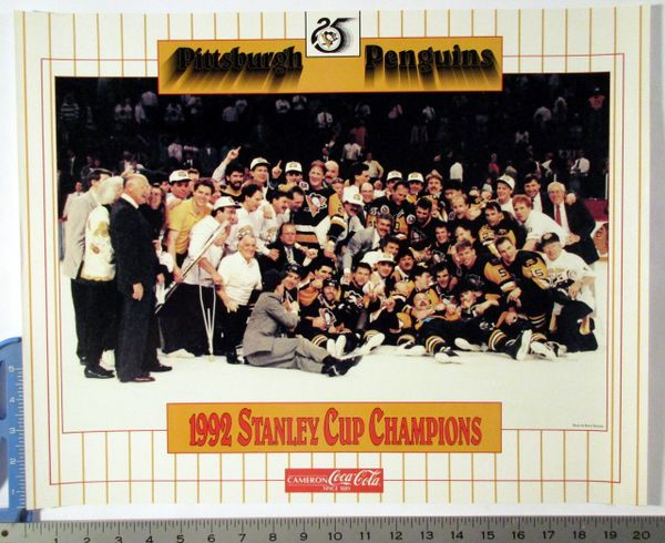 1992 Pittsburgh Penguins team photo poster