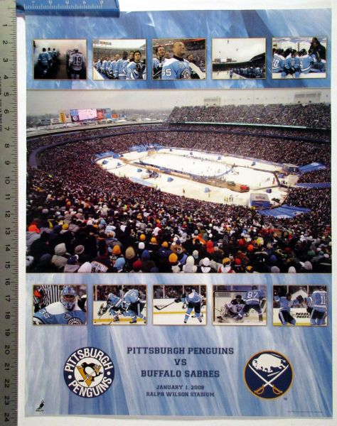 (2) Pittsburgh Penguins posters - Winter Classic & Stanley Cup