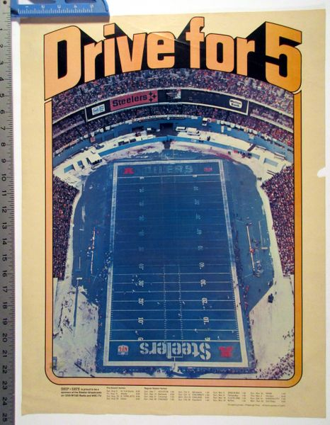 "1980 Pittsburgh Steelers - ""Drive for Five"" poster"