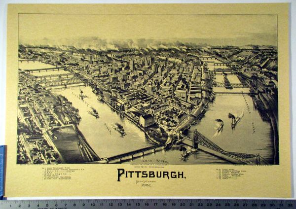 1903 City of Pittsburgh, PA reproduction litho