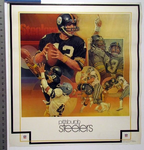 Terry Bradshaw - Pittsburgh Steelers vs. Dallas Cowboys - Super Bowl collage poster
