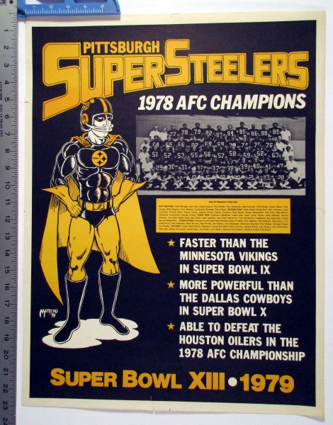 1978 AFC Champions - Pittsburgh Super Steelers poster