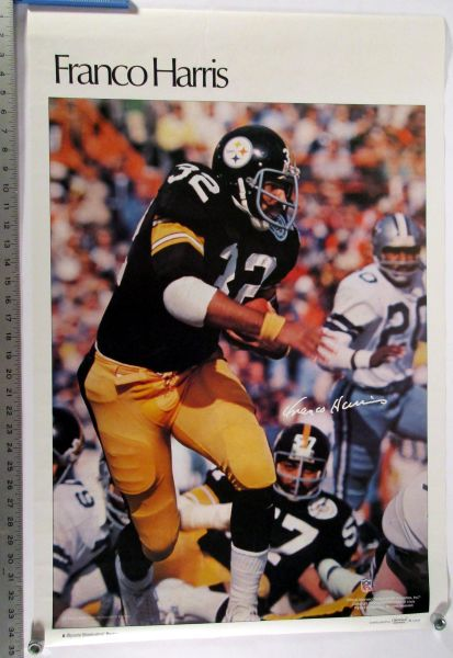 Franco Harris - Pittsburgh Steelers - 1970's Sports Illustrated poster
