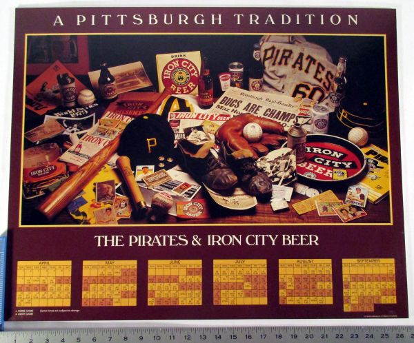 Pittsburgh Pirates - Iron City Beer - schedule poster