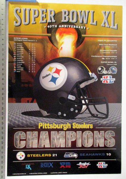 Pittsburgh Steelers - Super Bowl XL Champions poster