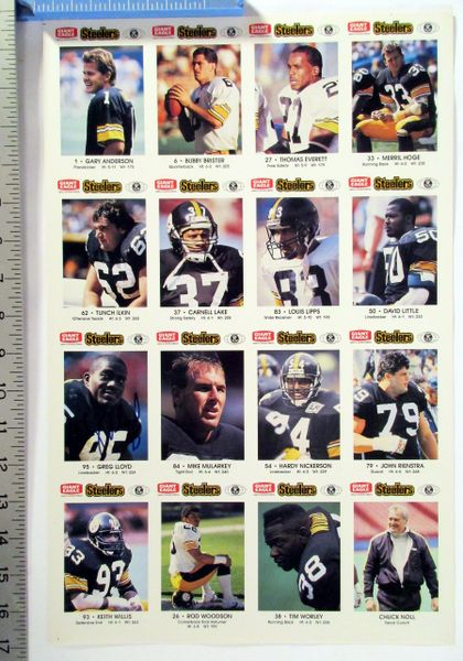 1990's Pittsburgh Steelers - Giant Eagle poster