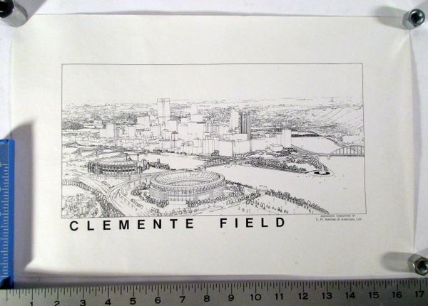 Roberto Clemente Field litho - Pittsburgh Pirates