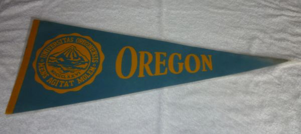 Vintage University of Oregon Ducks full-size pennant, 1960's - 70's